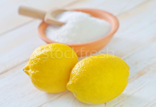 Asit limon gıda kış beyaz kimya Stok fotoğraf © tycoon