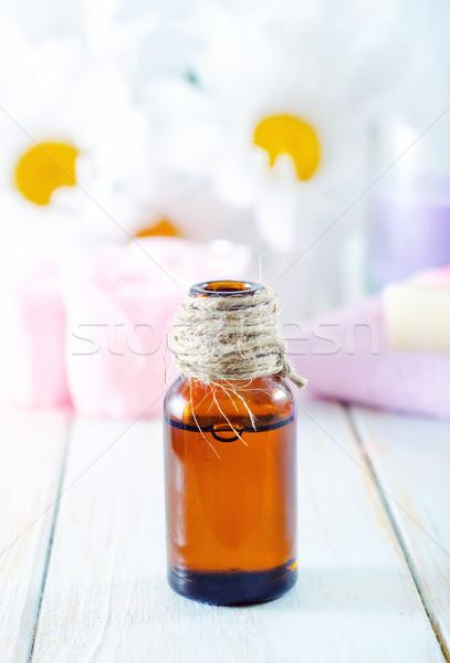 Aroma olie gras lichaam schoonheid geneeskunde Stockfoto © tycoon