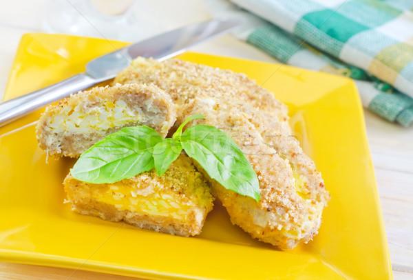 Chicken cordon bleu Stock photo © tycoon