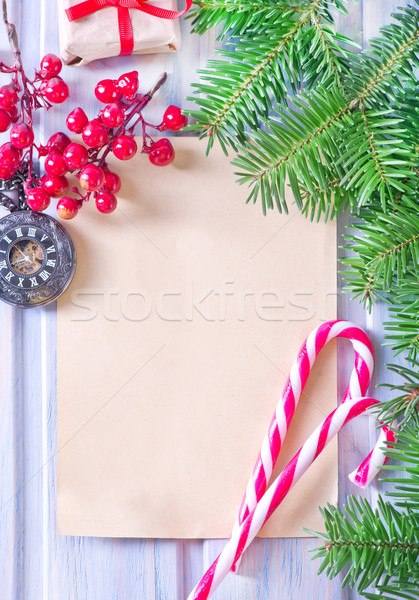 Natale frame candy decorazione felice design Foto d'archivio © tycoon