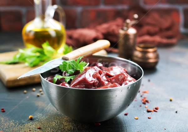 raw liver Stock photo © tycoon