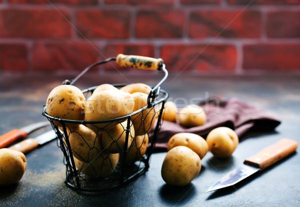 картофеля сырой металл окна сельского хозяйства растительное Сток-фото © tycoon
