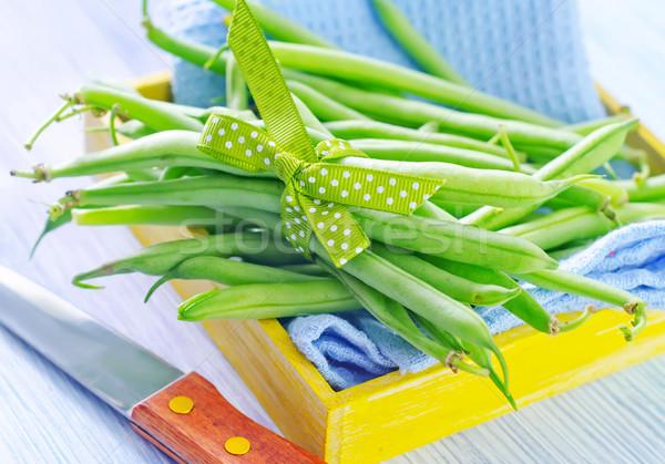 Groene bonen voedsel gezondheid achtergrond groep koken Stockfoto © tycoon