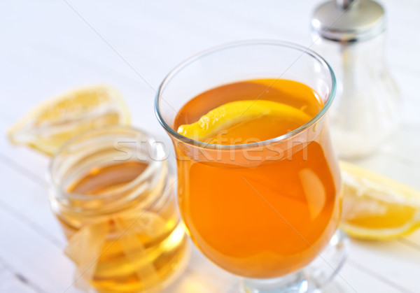 tea with lemon Stock photo © tycoon