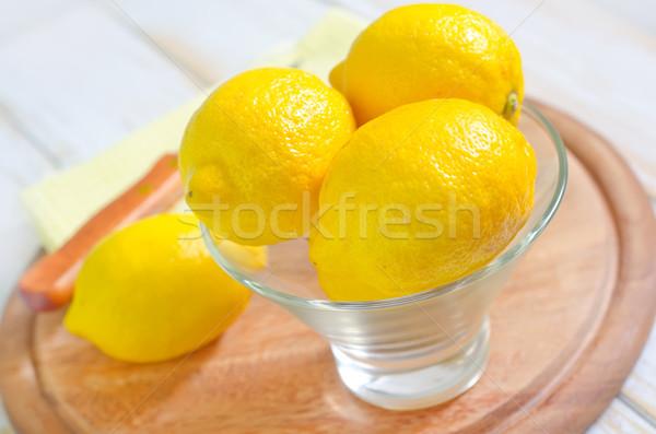 Taze limon gıda sağlık kış meyve suyu Stok fotoğraf © tycoon