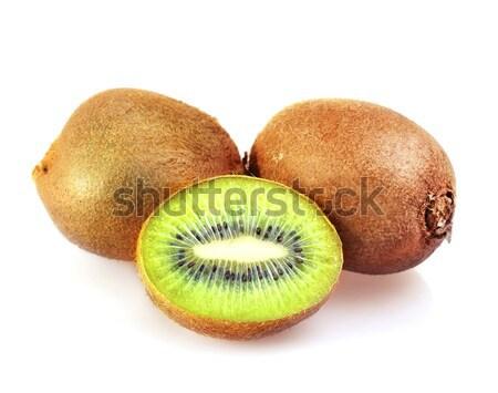 Frescos kiwi alimentos naturaleza color blanco Foto stock © tycoon