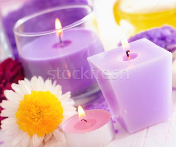 Sale marino candela colore sale natura corpo Foto d'archivio © tycoon