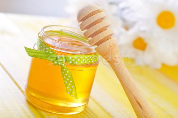 Honing natuur glas gezondheid diner goud Stockfoto © tycoon