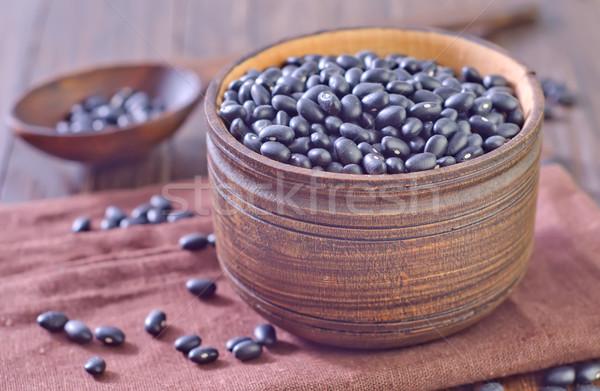 черный бобов продовольствие завода есть тень Сток-фото © tycoon