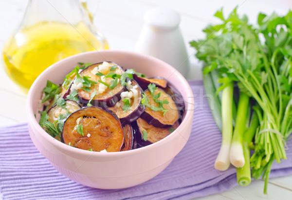 Aubergine groene witte kok eten Stockfoto © tycoon