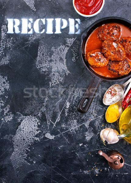 meat balls with sauce Stock photo © tycoon