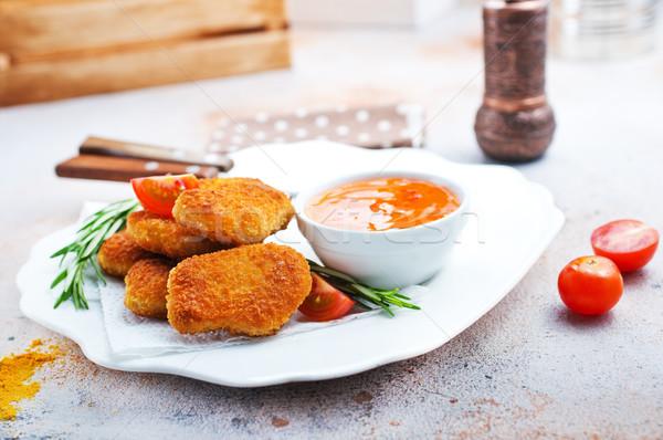 куриные соус нездоровой пищи складе фото продовольствие Сток-фото © tycoon