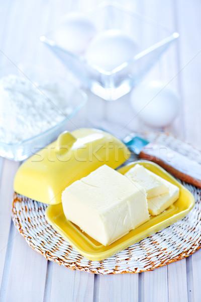 Ingredientes branco tabela madeira bolo beber Foto stock © tycoon