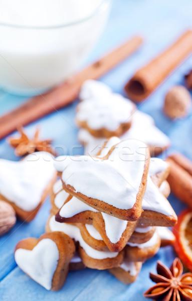 Cookies flor alimentos amor torta verano Foto stock © tycoon