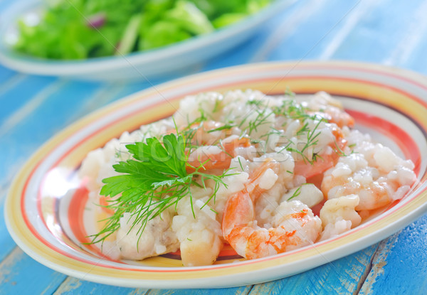 risotto with shrimps Stock photo © tycoon
