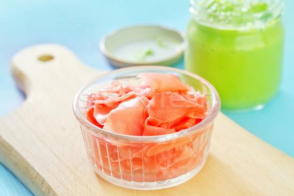 имбирь wasabi ресторан зеленый обеда белый Сток-фото © tycoon