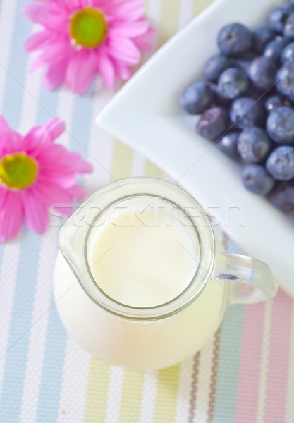 milk and blueberry Stock photo © tycoon