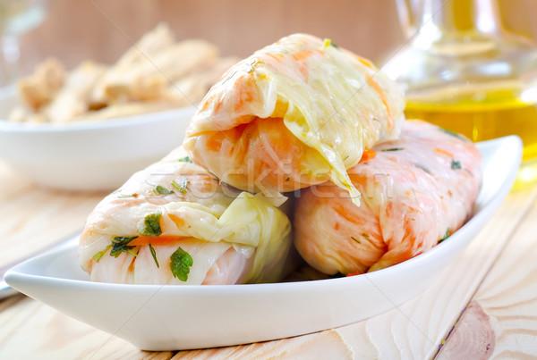 кислая капуста продовольствие свет домой лист кухне Сток-фото © tycoon