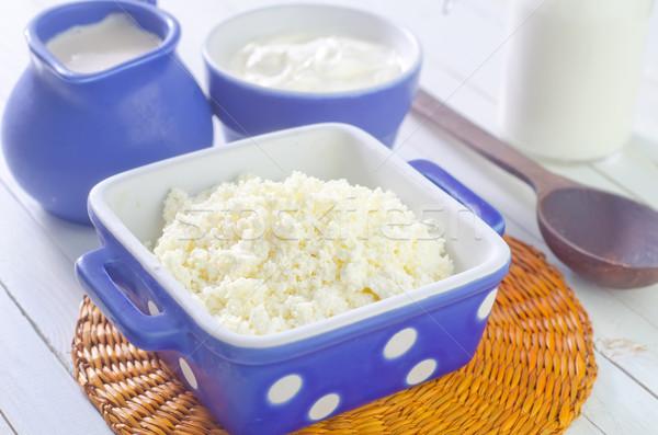 Tejföl kunyhó tej étel konyha asztal Stock fotó © tycoon