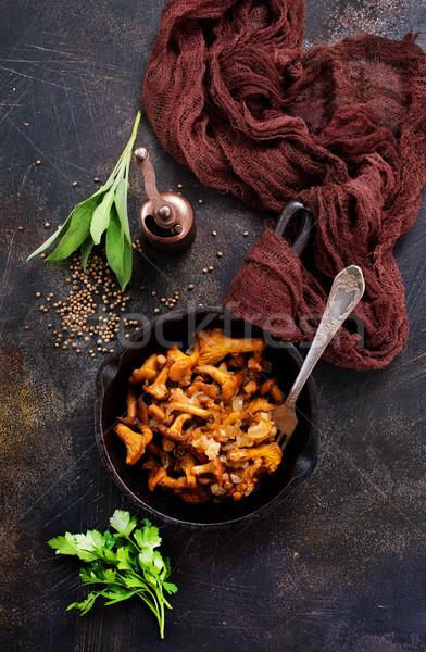 Stock photo: fried mushroom
