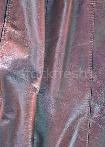 Сток-фото: кожа · коричневый · текстуры · моде · аннотация