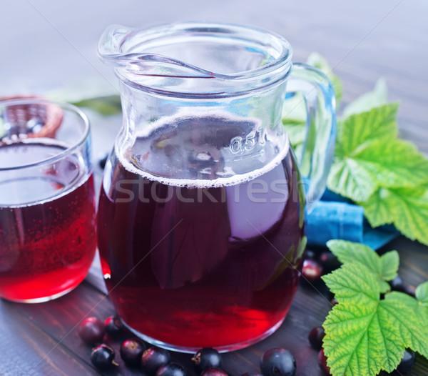 Preto groselha suco comida fruto verão Foto stock © tycoon