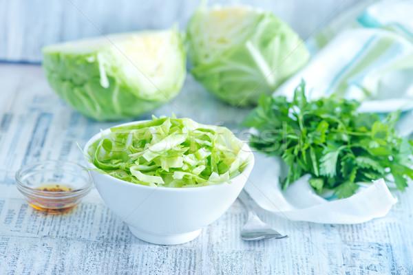 Cavolo insalata insalatiera tavola cucina olio Foto d'archivio © tycoon