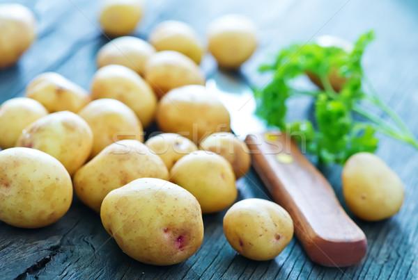 Patates bıçak sağlık renk Stok fotoğraf © tycoon