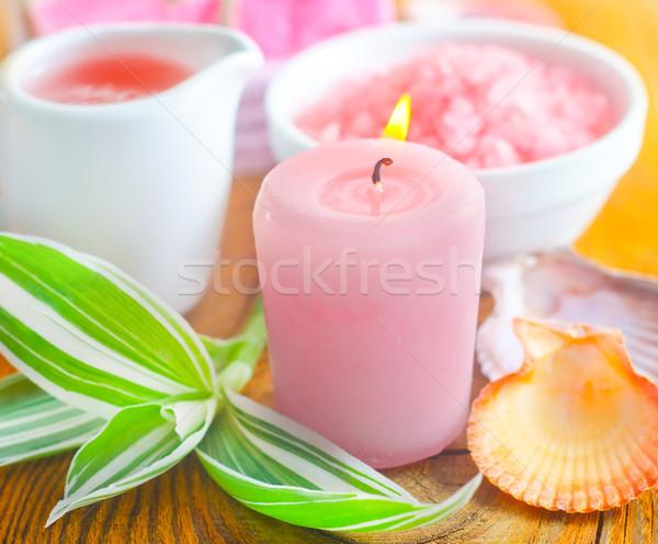 Mum deniz tuzu çiçek vücut sağlık masaj Stok fotoğraf © tycoon