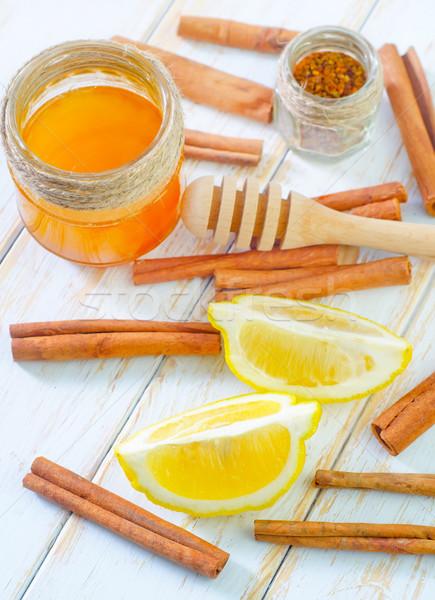 Limone medicina colore dessert cuoco miele Foto d'archivio © tycoon