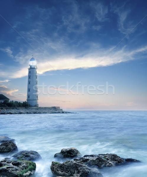 пляж свет морем красоту оранжевый океана Сток-фото © tycoon