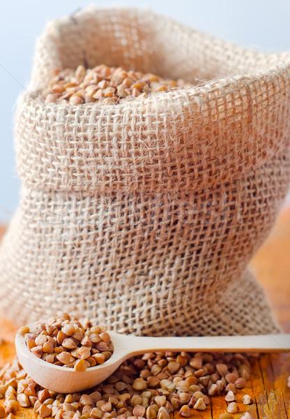 Raw buckwheat, portion of the  buckwheat Stock photo © tycoon