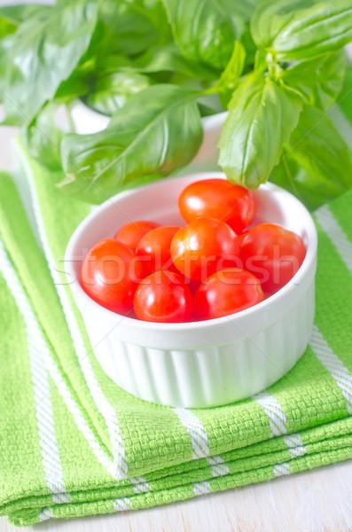 базилик томатный саду кухне пасты свежие Сток-фото © tycoon