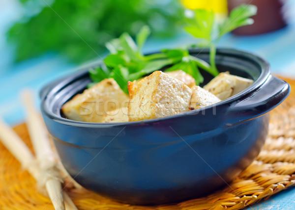 жареный Тофу продовольствие нефть рынке кожи Сток-фото © tycoon