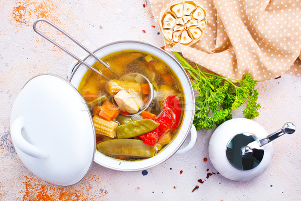 Zupa jarzynowa puchar czas Fotografia żywności tle Zdjęcia stock © tycoon