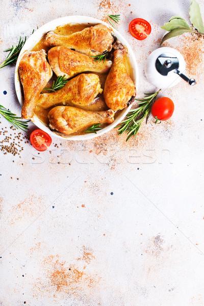 Sült tyúk lábak aroma fűszer só Stock fotó © tycoon