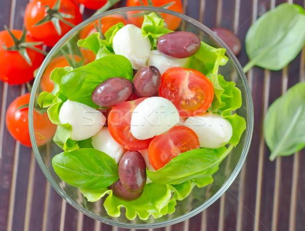 Caprese frutta insalata pomodoro oliva ciliegio Foto d'archivio © tycoon