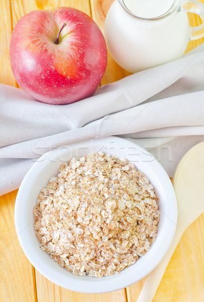 Reggeli étel alma gyümölcs egészség piros Stock fotó © tycoon