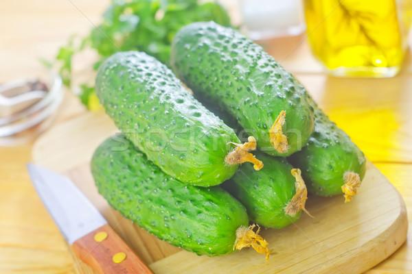 Cetrioli natura frutta verde mangiare fresche Foto d'archivio © tycoon
