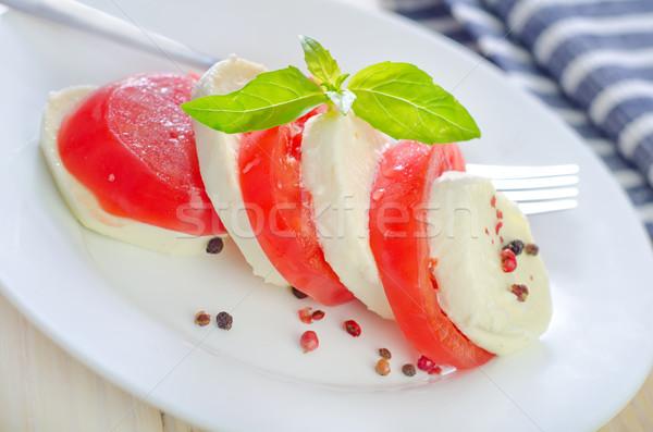 Капрезе продовольствие нефть жизни цвета Салат Сток-фото © tycoon