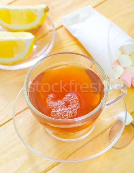 Fresche tè acqua arancione tavola bere Foto d'archivio © tycoon