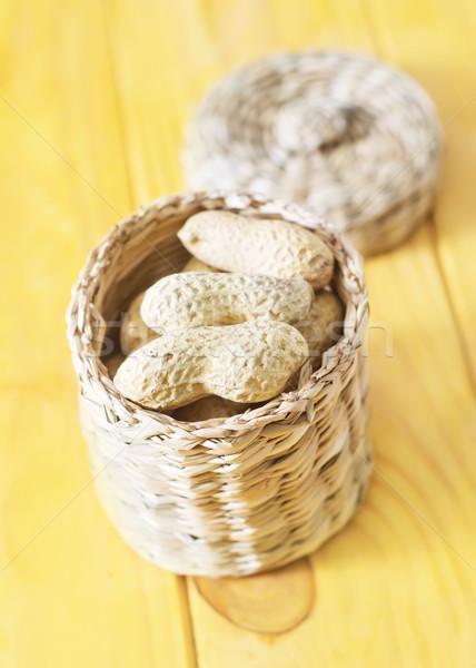 Amendoins comida fundo grupo concha agricultura Foto stock © tycoon