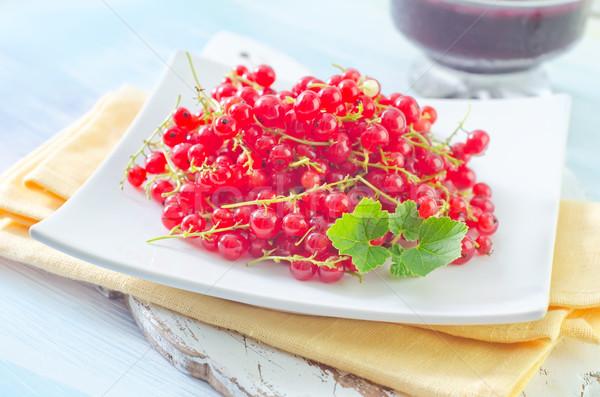 Vermelho groselha comida quadro verão verde Foto stock © tycoon