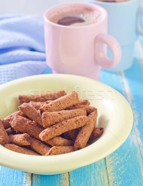 Kuru kahvaltı cam çikolata arka plan şeker Stok fotoğraf © tycoon