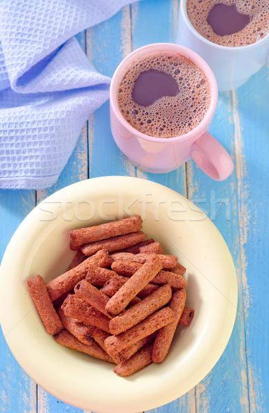 朝食 ガラス チョコレート 背景 キャンディ ストックフォト © tycoon