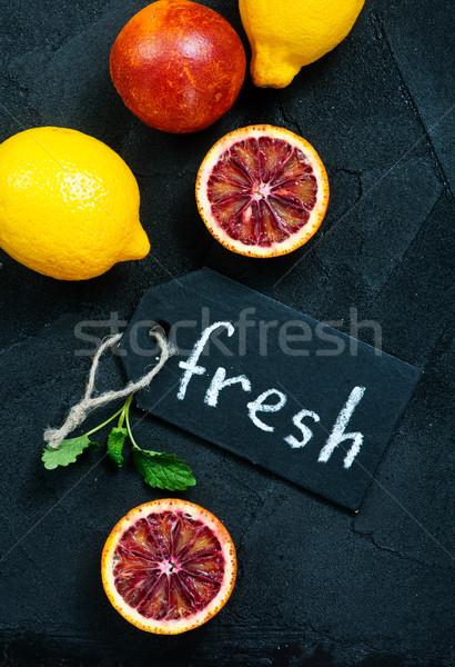 Citrus vers citrus fruit tabel voedsel vruchten Stockfoto © tycoon