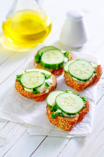 Pane cetriolo alimentare luce cucina mais Foto d'archivio © tycoon