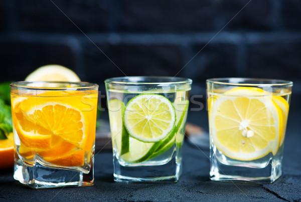 Beber cítrico vidro fruto fundo Foto stock © tycoon