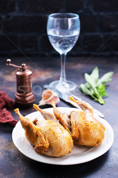 fried quail  Stock photo © tycoon