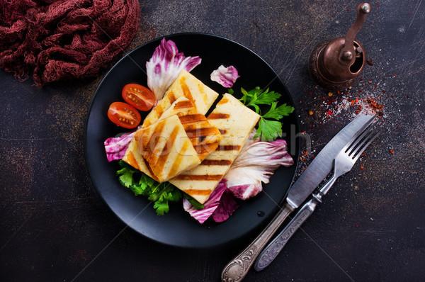 Salada grelhado queijo legumes frescos comida verde Foto stock © tycoon
